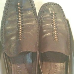 Cole Haan Loafers 8B Leather Dk Chocolate Justina